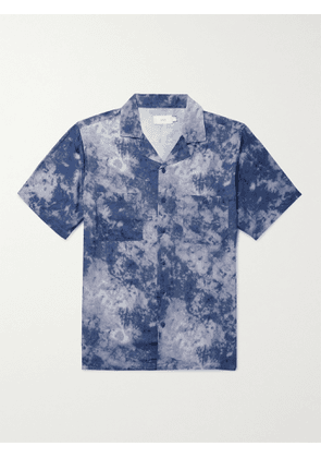 Onia - Vacation Camp-Collar Tie-Dyed Voile Shirt - Men - Blue - XL