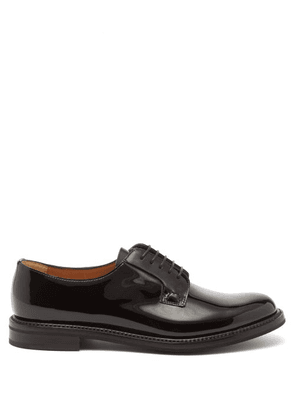 Church's - Shannon Patent-leather Derby Shoes - Womens - Black
