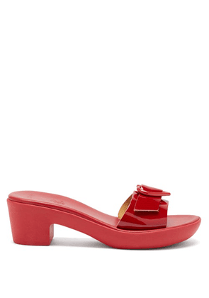Ancient Greek Sandals - X HVN Clio Heart-buckle Leather Sandals - Womens - Red