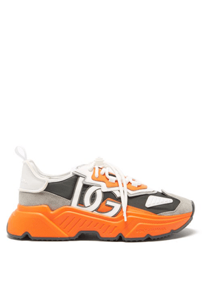 Dolce & Gabbana - Daymaster Chunky-sole Canvas Trainers - Mens - Orange Multi