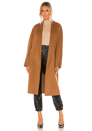 LAMARQUE Thara Coat in Brown. Size M/L.