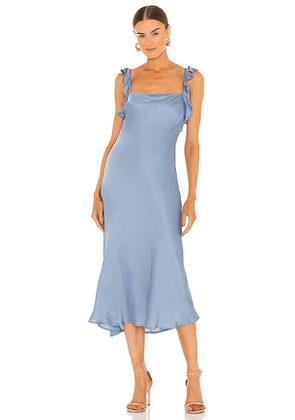 ASTR the Label Rina Dress in Baby Blue. Size L.