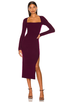 The Sei Square Neck Dress with Slit in Purple. Size XS.