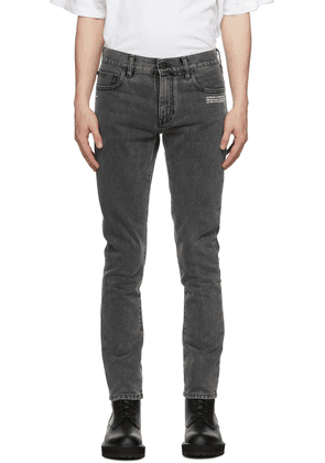 Off-White Grey Corp Skinny Jeans