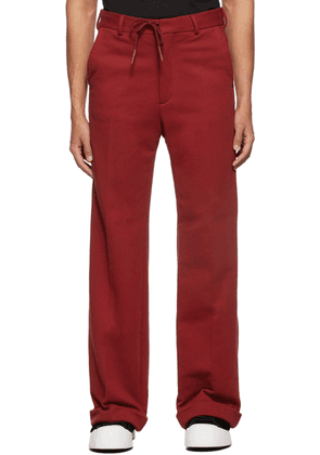 Marni Red Compact Trousers