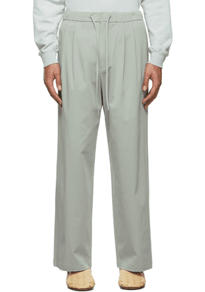 AMOMENTO Blue Drawstring Wide Trousers