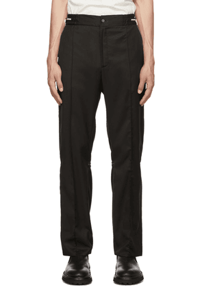 ADYAR SSENSE Exclusive Black Knit Trousers