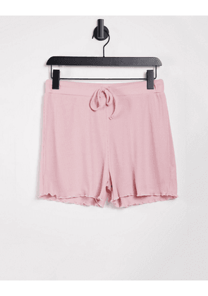 In The Style ribbed shorts in pink