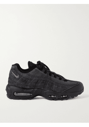 Nike - Air Max 95 Panelled Suede, Leather and Mesh Sneakers - Men - Black - US 6