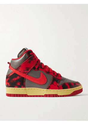 Nike - Dunk High 1985 Printed Leather High-Top Sneakers - Men - Red - US 8