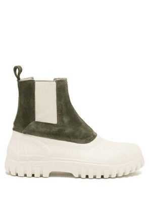 Diemme - Balbi Suede And Rubber Chelsea Boots - Womens - Green White