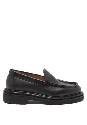 Legres - 20 Chunky-sole Leather Loafers - Womens - Black