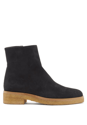 The Row - Boris Suede Ankle Boots - Womens - Black