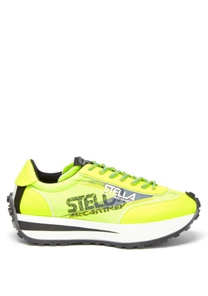 Stella Mccartney - Reclypse Recycled-fibre Canvas Trainers - Womens - Yellow
