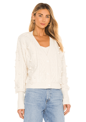 For Love & Lemons Florentina Button Down Cardigan in Cream. Size L.