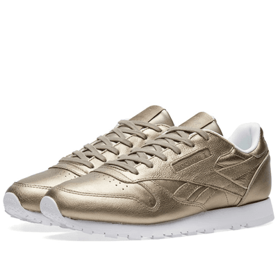 Women s Reebok Classic Leather Pearl Grey Gold   Ice  af923b1783720