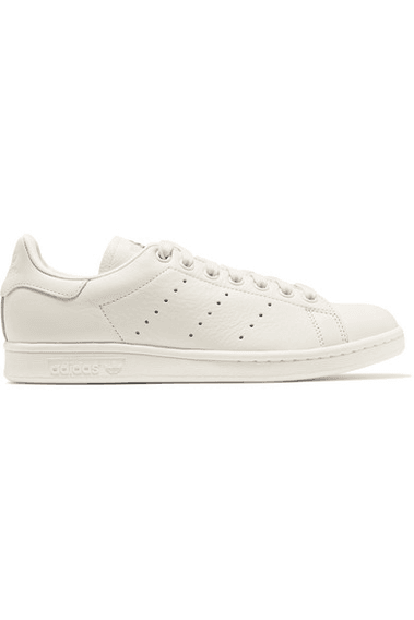 new concept 40b8d a5852 adidas Originals - Stan Smith Embroidered Leather Sneakers - Off-white