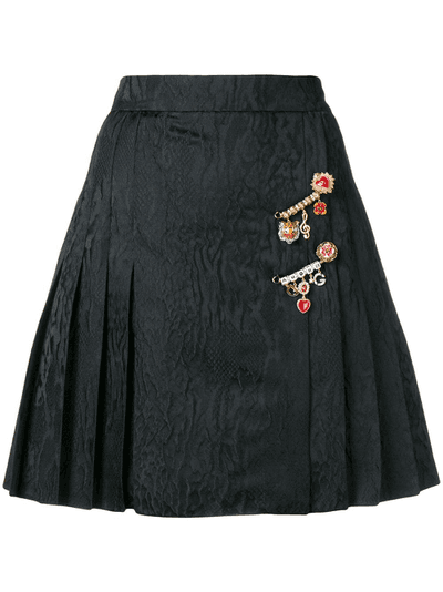 eee0eac19b Dolce & Gabbana pleated mini skirt | Black | MILANSTYLE.COM