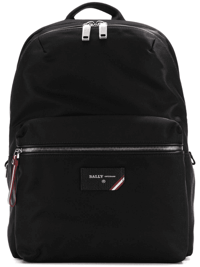 7113a0bd8 Bally logo patch backpack | Black | MILANSTYLE.COM