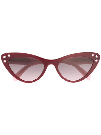 8e6814c5b3d Miu Miu Eyewear embellished cat eye sunglasses