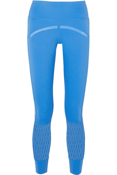 6e2e447232584d adidas by Stella McCartney | + Parley For The Oceans Training Believe This  Laser-cut Stretch Leggings | Blue | MILANSTYLE.COM