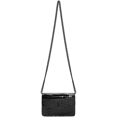 Black Bb Patent Wallet Bag Croc Balenciaga Chain fby7v6gY