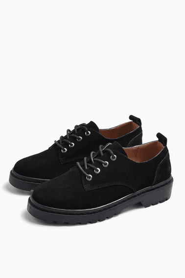 Womens Furnace Leather Black Lace Up