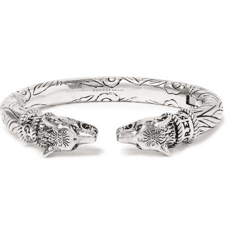 352cfd6ef Gucci | Wolf Head Sterling Silver Cuff | Silver | MILANSTYLE.COM