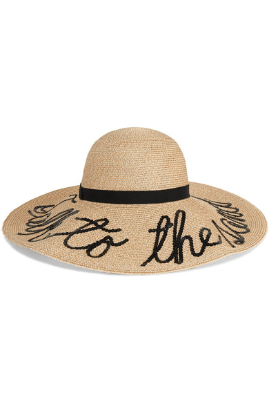 171599bc Eugenia Kim | Talk To The Sand Embellished Straw Sunhat | Ivory ...