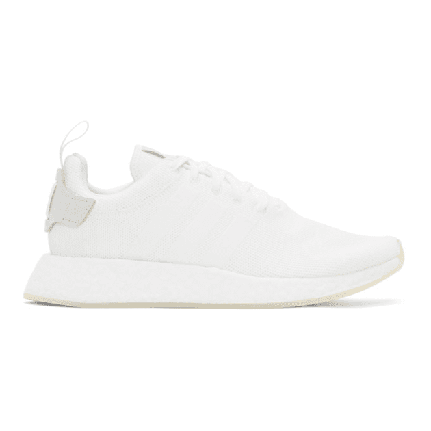 NMD_R2 leather trimmed Primeknit sneakers