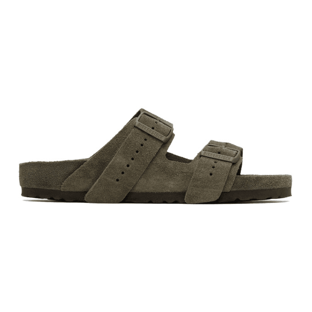 ed18a8cf792d Rick Owens Taupe BIRKENSTOCK Edition Suede Arizona Sandals ...