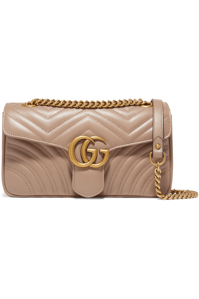 aca8307d35a1 Gucci | Gg Marmont Small Quilted Leather Shoulder Bag | Beige ...