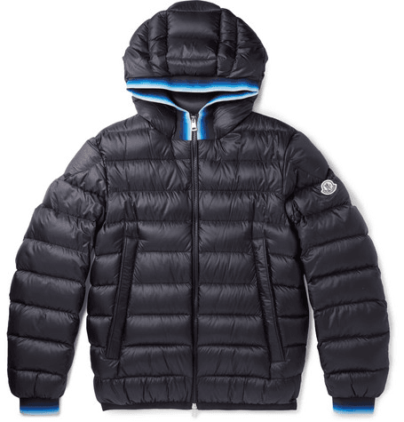 f56bc3e06 Moncler - Avrieux Stripe-trimmed Quilted Shell Hooded Down Jacket - Navy
