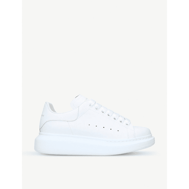 281a0e0b016435 Runway leather trainers