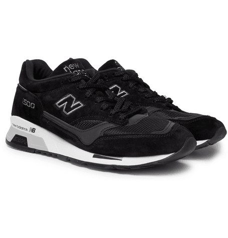 on sale a48c1 ff363 New Balance - 1500 Suede, Leather And Mesh Sneakers - Black