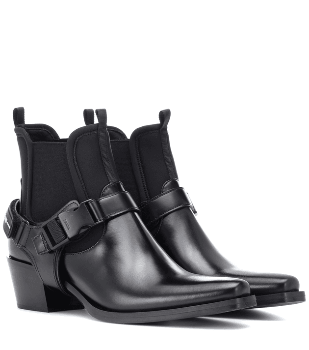 14959c502597 Leather and neoprene ankle boots | MILANSTYLE.COM