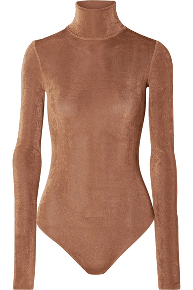 68af7b127a Alix | Hoyt Stretch-jersey Turtleneck Thong Bodysuit | Copper ...