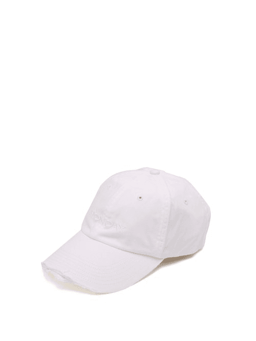 4d2ae056 Vetements | X Reebok Monday Embroidered Cotton Cap | Womens | White ...