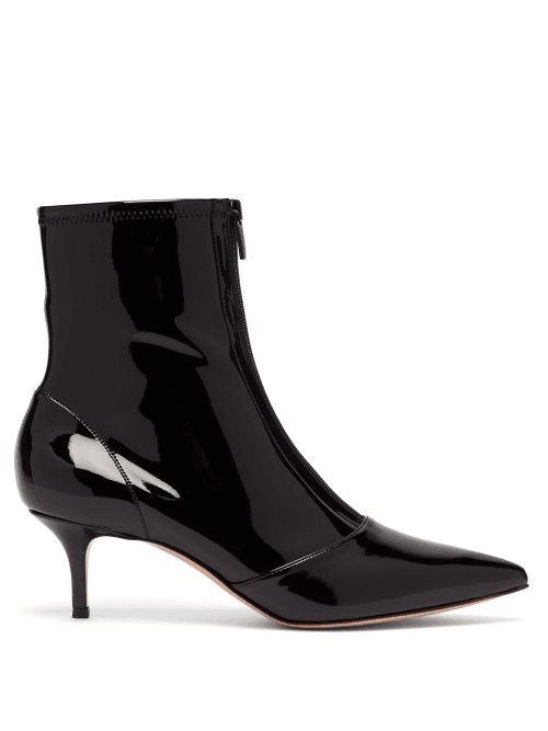 Boots Womens RossiZip Front 55 Vinyl Black Gianvito Ankle 0wOPXnkN8