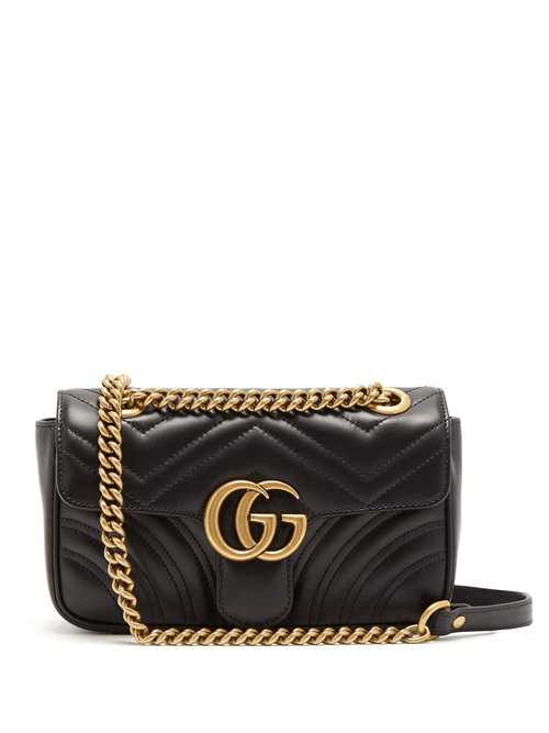 fa088278eb5f65 Gucci | Gg Marmont Small Quilted Leather Cross Body Bag | Womens ...