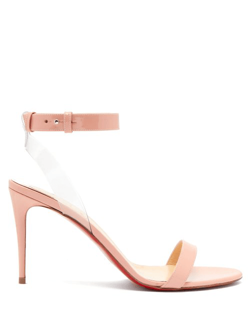 newest 8bad0 894df Christian Louboutin - Jonatina 85 Patent Leather Sandals - Womens - Light  Pink