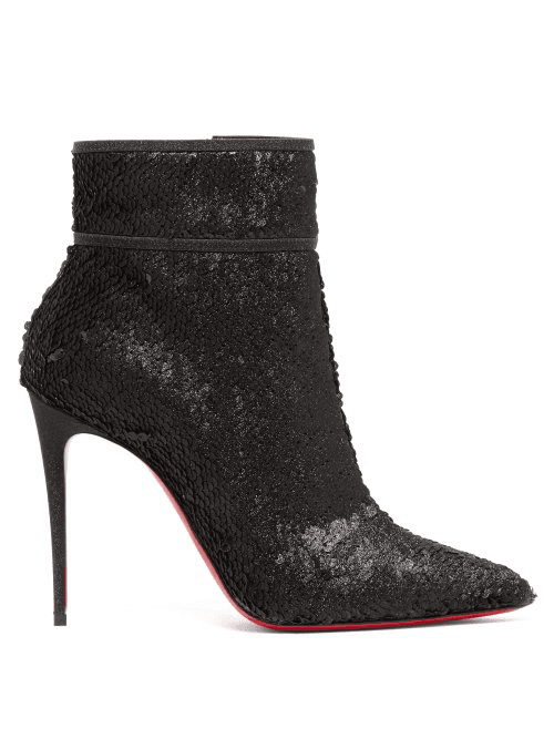 7ec9bd85c97 Christian Louboutin | Moulakate 100 Sequin Ankle Boots | Womens ...