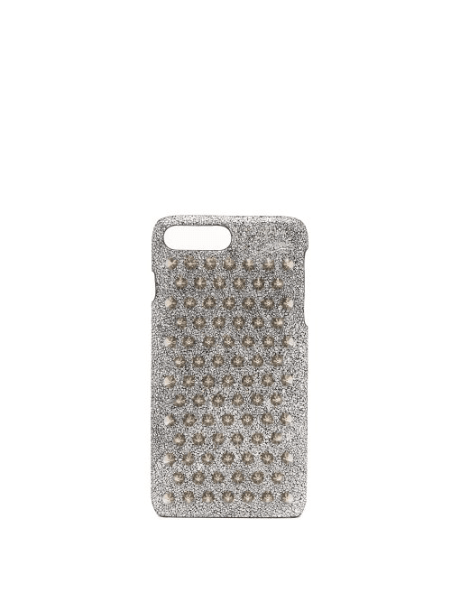 b6f75e51356 Christian Louboutin - Loubiphone Metallic Leather Iphone® 7+ & 8+ Case -  Womens - Silver