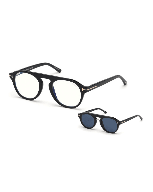 065c599be Men's Round Optical Glasses w/ Magnetic Clip On Blue-Block Shade |  MILANSTYLE.COM