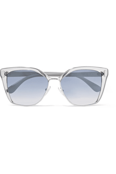 7a1499108d19e ... greece prada cat eye acetate and silver tone mirrored sunglasses one  a8034 2f45b