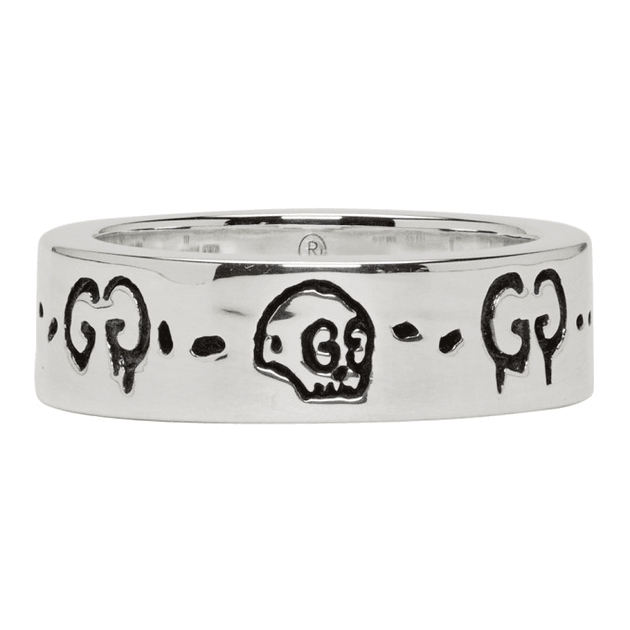 8ef3552a5 Gucci Silver GucciGhost Ring | MILANSTYLE.COM