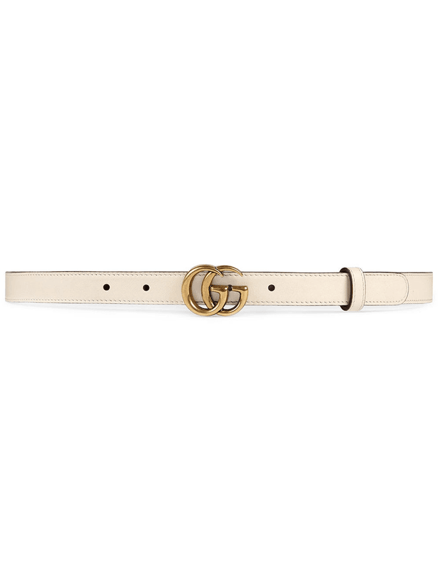 662036321 Gucci Leather belt with Double G buckle | Neutrals | MILANSTYLE.COM