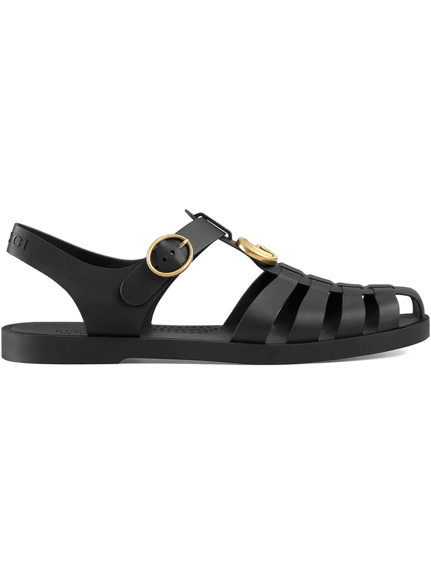 9ce9df84b10 Gucci Rubber buckle strap sandals