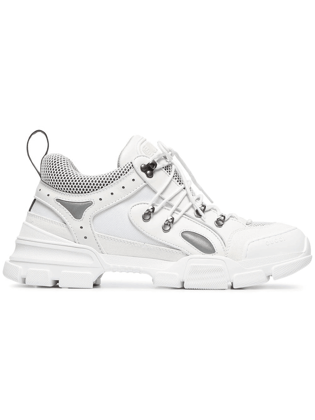 69085d6b73e4b Gucci white flashtrek leather sneakers