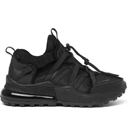 reputable site e894c 52b61 Nike - Air Max 270 Bowfin Ripstop, Mesh And Faux Leather Sneakers - Black